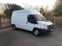 2010-10-reg ford transit 350-115ps 2.4TD long wheel base extra hi roof FREE U.K. DELIVERY no vat