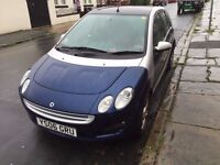 Semi-Auto smart forfour blue and silver for sale, great runner, reduced for a quick sale, bargain!!