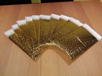 Metallic Gold Padded Envelopes / Mailer - 10 pieces