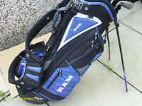 """MENS RIGHT HAND GOLF CLUBS """"HIPPO PLUS"""" IN STAND BAG"""