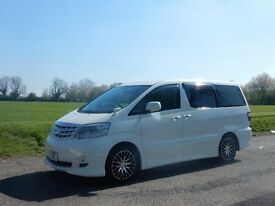 TOYOTA ALPHARD V, 2006, AUTO, 2.4 PETROL, IN PEARL WHITE , LOW MILLAGE, 4wd