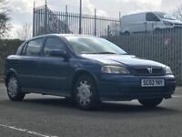 2002 (Apr 02) VAUXHALL ASTRA 1.6i CLUB - Hatchback 5 Doors - Petrol - Manual - BLUE *MOT/PX WELCOME*