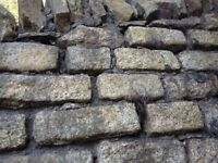 Building stone. Wall blocks. Ebbw Vale