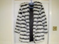 Debenhams Alice And You Size 12 New/Unworn Faux Fir Coat With Hood