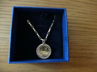 1985 KRUGERRAND 1/10 FINE GOLD COIN IN 9ct PENDANT