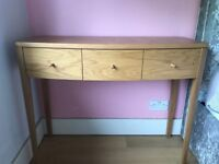 Light Oak Console table / desk