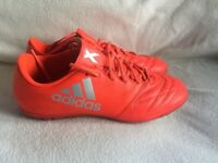 Adidas X 16.3 TF Leather in SOLRED uk Size 10.5