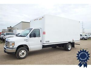 2016 Ford E-450 16 ft Cube Van RWD - Unicell Body, 16,090 KMs