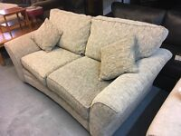 VERY NICE QUALITY DARK BEIGE FABRIC SOFABED