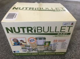 NutriBullet Baby Food Processor – Brand New