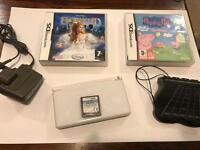 Nintendo DS Lite with 3 games and charger