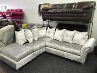 Velvet corner sofa - BRAND NEW!