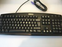 Black Dell PC Computer Keyboard in Excellent Condition