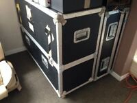 Flight Cases, Fully Padded Inside. Very Sturdy and Well Built. Size In Pictures