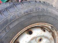 3 Part worn 185 R14 van tyres