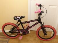 "Girls Hello Kitty 18"" BMX Bike, Excellent Condition, Age 4 - 7, Cost £120 new, Sell for £30"