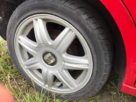 A set of seat/vw/skoda alloys and tyres 205/45/16