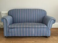 FREE Small blue stripe two seat sofa