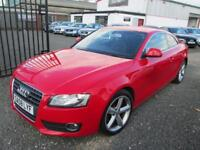 Audi A5 1.8T FSI 2dr COUPE MANUAL + FULL BLACK LEATHER + SERVICE HISTORY + 1 YEAR MOT (red) 2008
