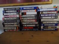 30 Used Video Cassette Tapes - TV, Films etc