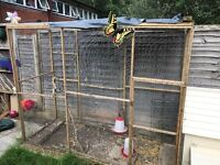 Chicken coop and aviary