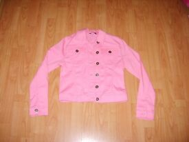 Girls Pink Jacket For Sale - Age 9 - 10