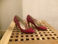 Heels red Ted baker size 37/4 I wore them last Xmas party