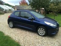 Peugeot 207 1.4 3 door Fully stamped service history (8 stamps) low ins and tax long MOT bargain !!