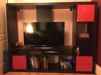 Tv storage unit LAPPLAND black/red from Ikea
