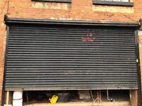 ELECTRIC ROLLER SHUTTER DOOR USED 9-10ft HEIGHT 15-16ft WIDE