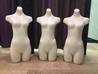 Set of three mannequin busts for sale