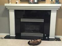 Fireplace mantel/surround with Black Granite