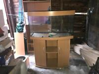 Jewel 180 litre Bow front tank with accessories