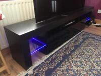 Brand New Large TV Cabinet - 200cm length - LED lights