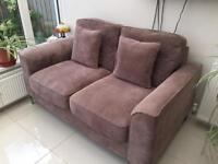 Mink corded 2 seater sofa