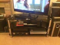 Television stand Black Glass