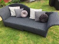 Rattan style wicker chaise sofa. Can deliver