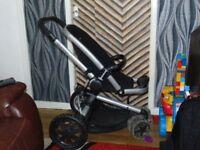 quinny buzz three-wheeler all terrain buggy stroller pushchair loads of extras