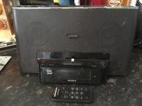 Sony DAB radio with iPhone/ pod dock and remote