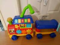 ride on train garage cars truck digger lorry hoover mini garage
