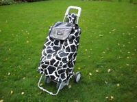 Marketeer 2 x 4 wheel shopping trolley.