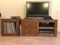 x2 side units, x1coffee table, X1 TV unit, x1 storage unit