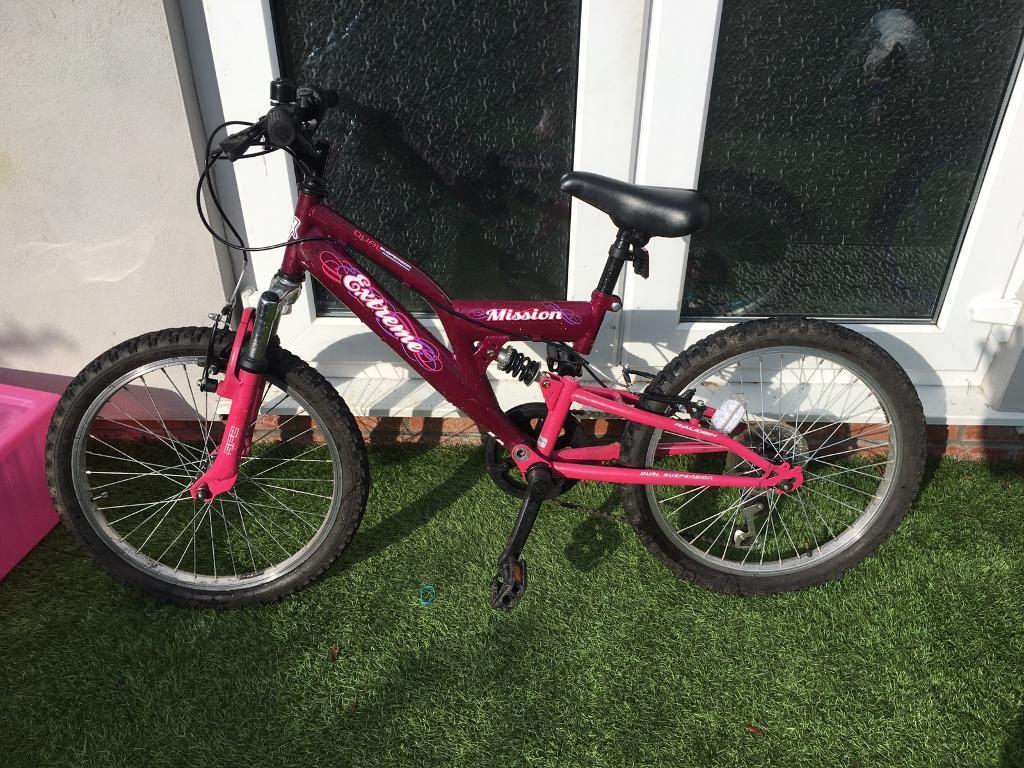 Girls Mountain Bike Front And Back Suspension In Bishopsworth