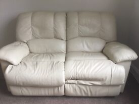 Get it today ready for X Factor tonight 😉 Real leather 2 seater recliner sofa - great condition