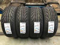 Brand new never fitted set of 4 tyres 225/55/16