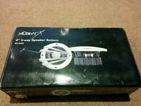 "BOXED Mutant-X 4"" coaxial car speakers"