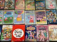 Over 30 DVD bundle - Disney, Peppa Pig, Charlie & Lola, Noddy, Barbie....