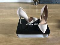 Miss KG nude suede court shoes