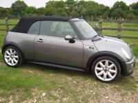 2005 Mini Cooper S Covertible Chili pack.84k with FSH.P/X welcome.