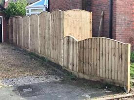 🚨Excellent Quality Bow Top Feather Edge New Fence Panels • Heavy Duty